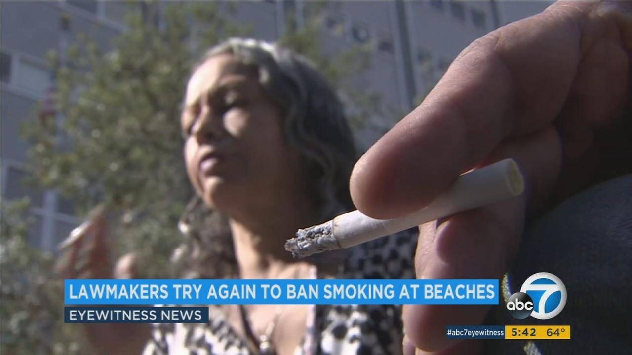 California lawmakers are trying to ban smoking on state beaches again after a failed attempt last year.