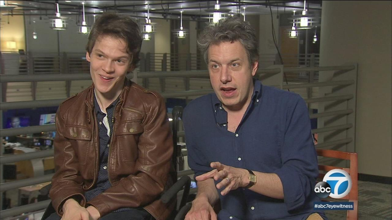 Speechless stars Micah Fowler and John Ross Bowie are shown during an interview with ABC7.