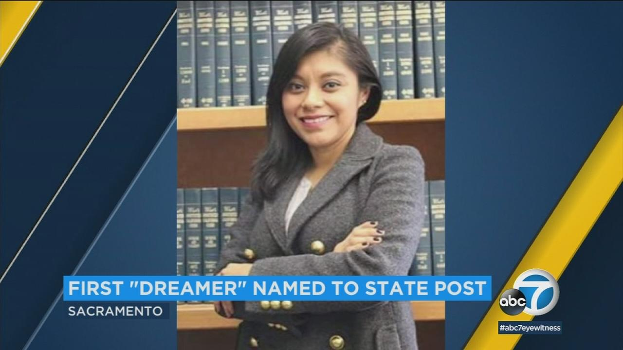 Attorney and immigrant rights activist Lizbeth Mateo, 33, of Los Angeles, is shown during an interview.