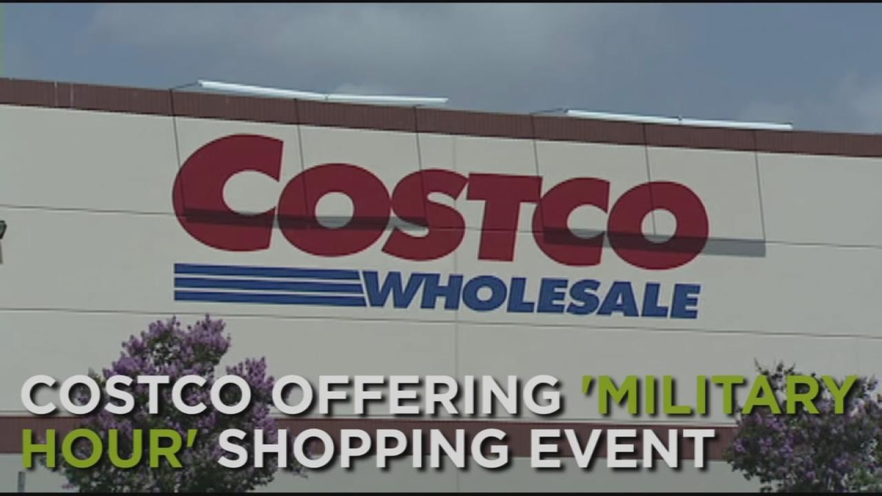 Costco is offering a special military event.