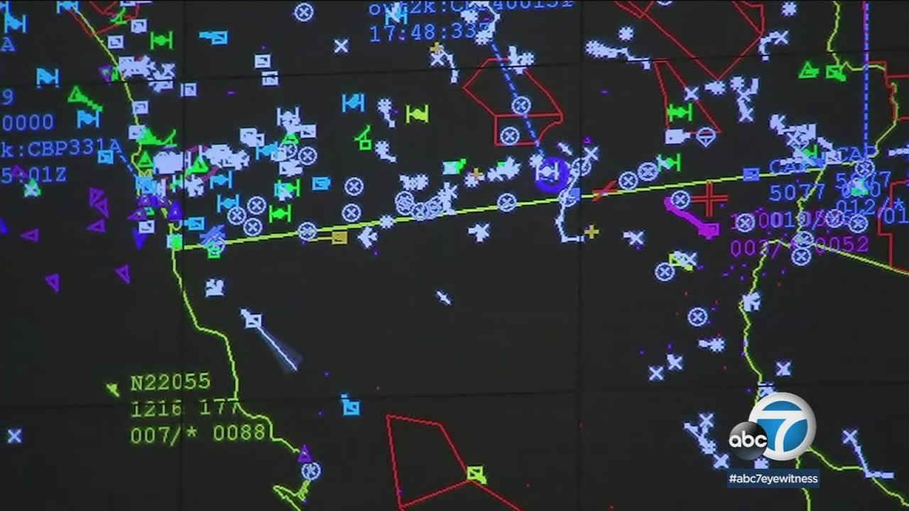 Operators at the Air and Marine Operations Center in Riverside keep track of whats happening in the skies above March 16, 2018.