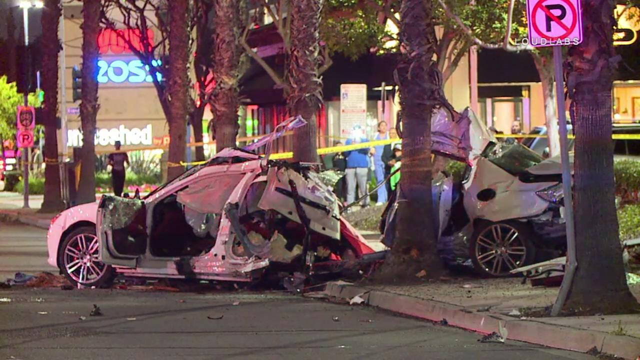 One man is dead and another was critically injured after a shocking single-car crash in Long Beach Friday, March 16, 2018.