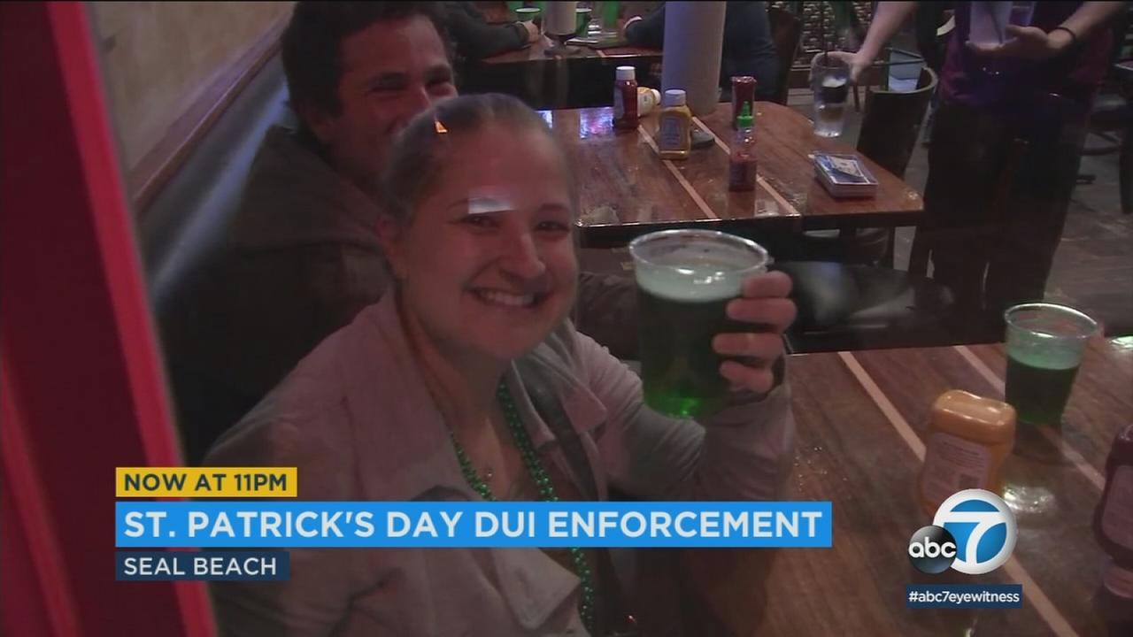 Authorities urge St. Patricks Day revelers not to drink and drive Saturday, March 17, 2018.