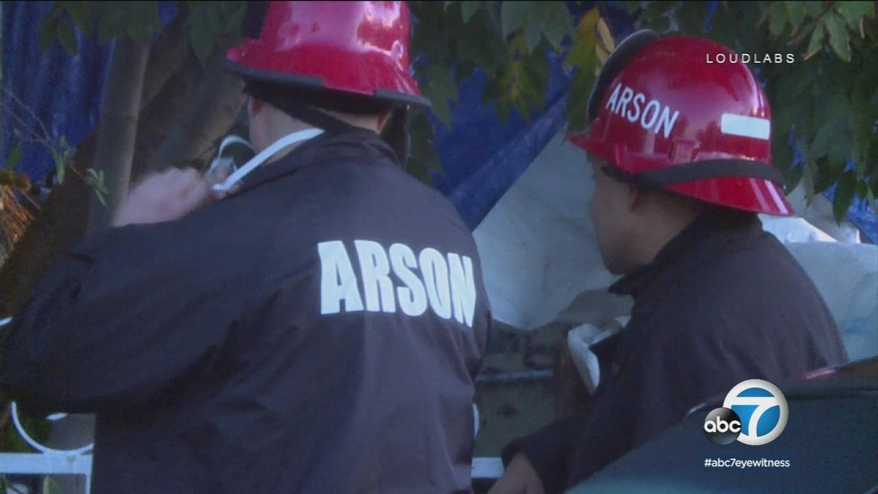 Arson investigators are on the scene of a house fire in Wilmington after a man was found dead inside the home.