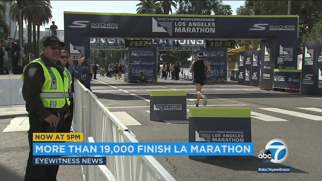 An estimated 24,000 people ran the Los Angeles Marathon on Sunday, March 18, 2018.