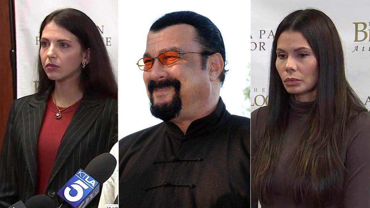 Two women spoke out publicly on Monday, March 19, 2018, accusing actor Steven Seagal of sexually assaulting them when they were in their teens.