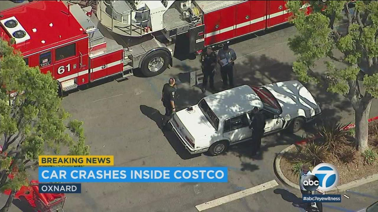 Police investigated after an 86-year-old man apparently accidentally reversed his 1989 Buick Regal into a Costco in Oxnard, striking six people.