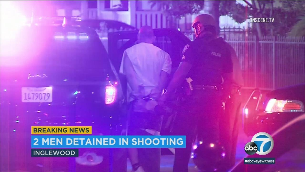 A triple shooting in Inglewood left one man dead and two women hospitalized, authorities said.