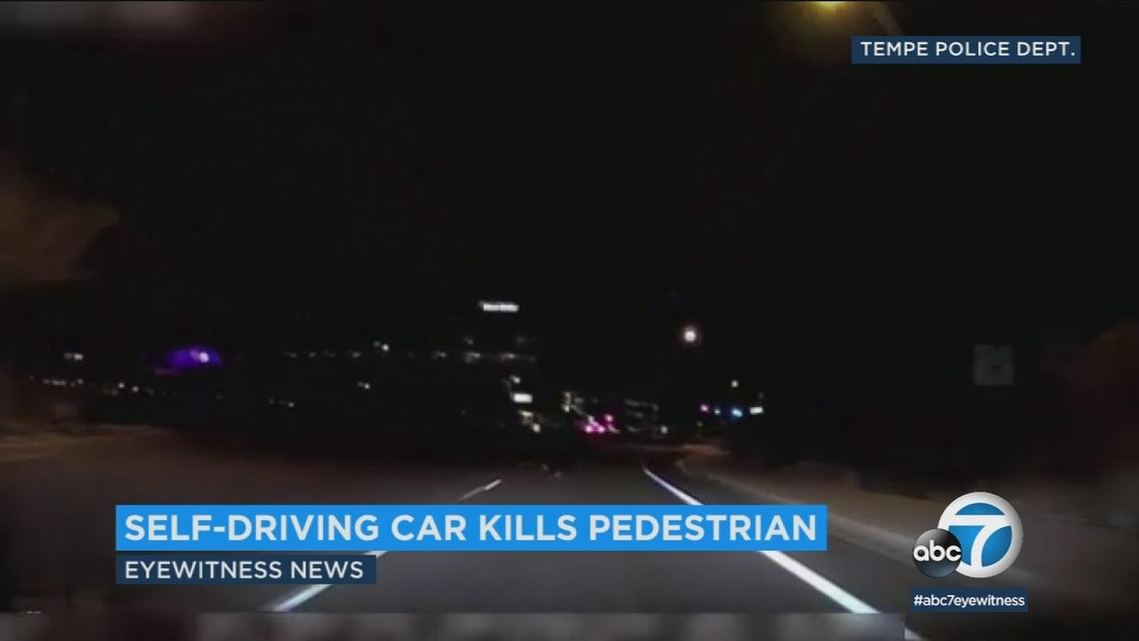 Police in Tempe, Arizona have released some of the video from a fatal crash involving a self-driving Uber vehicle and a pedestrian.