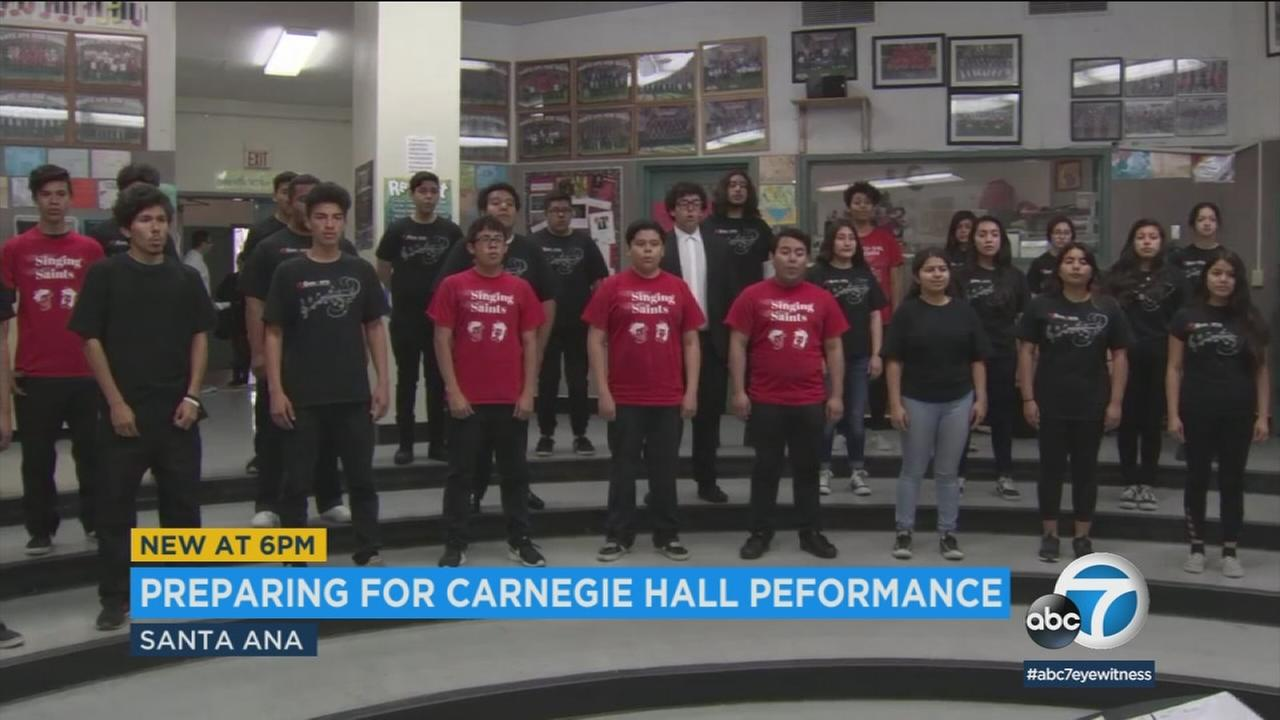 The Santa Ana High School choir will perform at Carnegie Hall and one students family is getting a free trip to the Big Apple to see her.