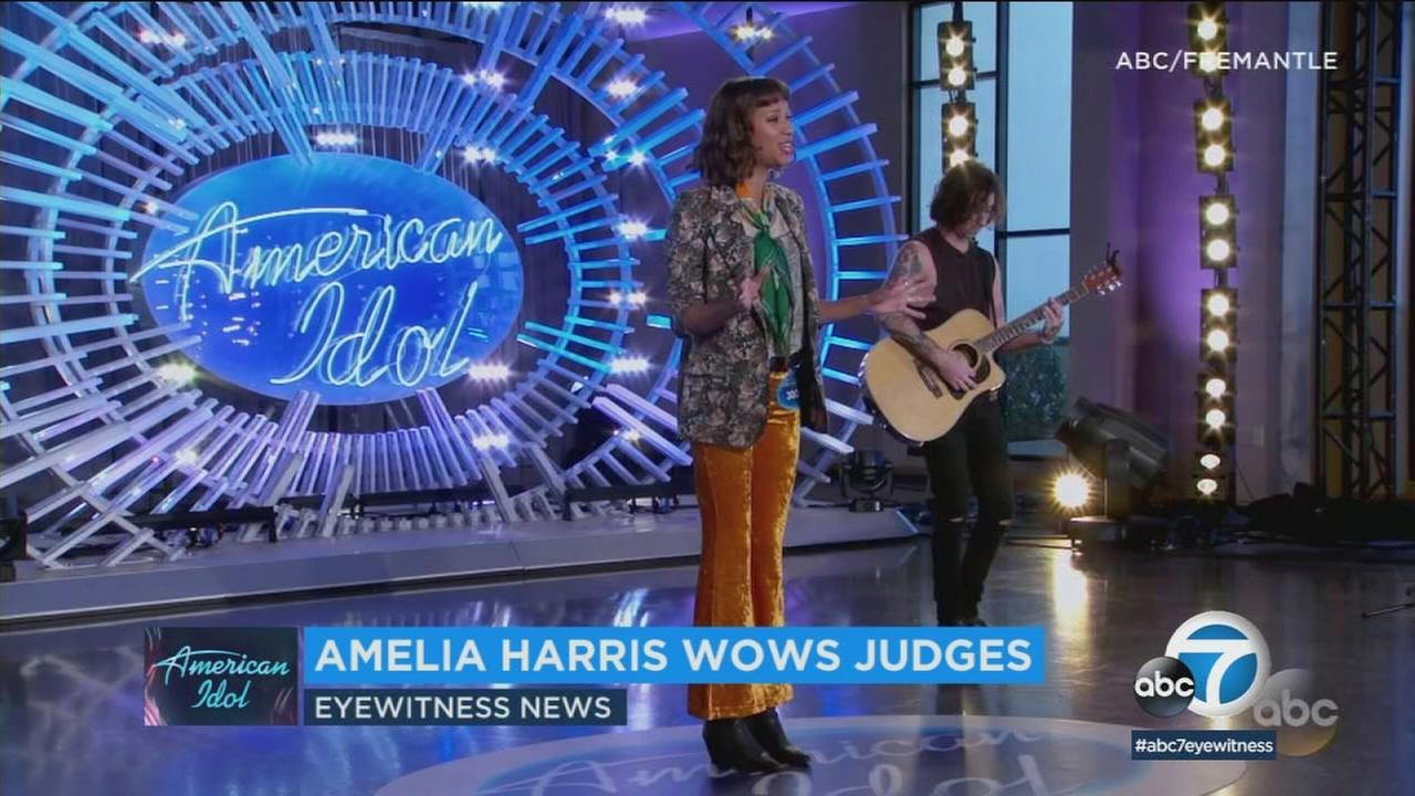 Amelia Harris wowed the American Idol judges on Sunday night with her performance of Gimme Shelter and talked to ABC7 about whats next for her on the show.