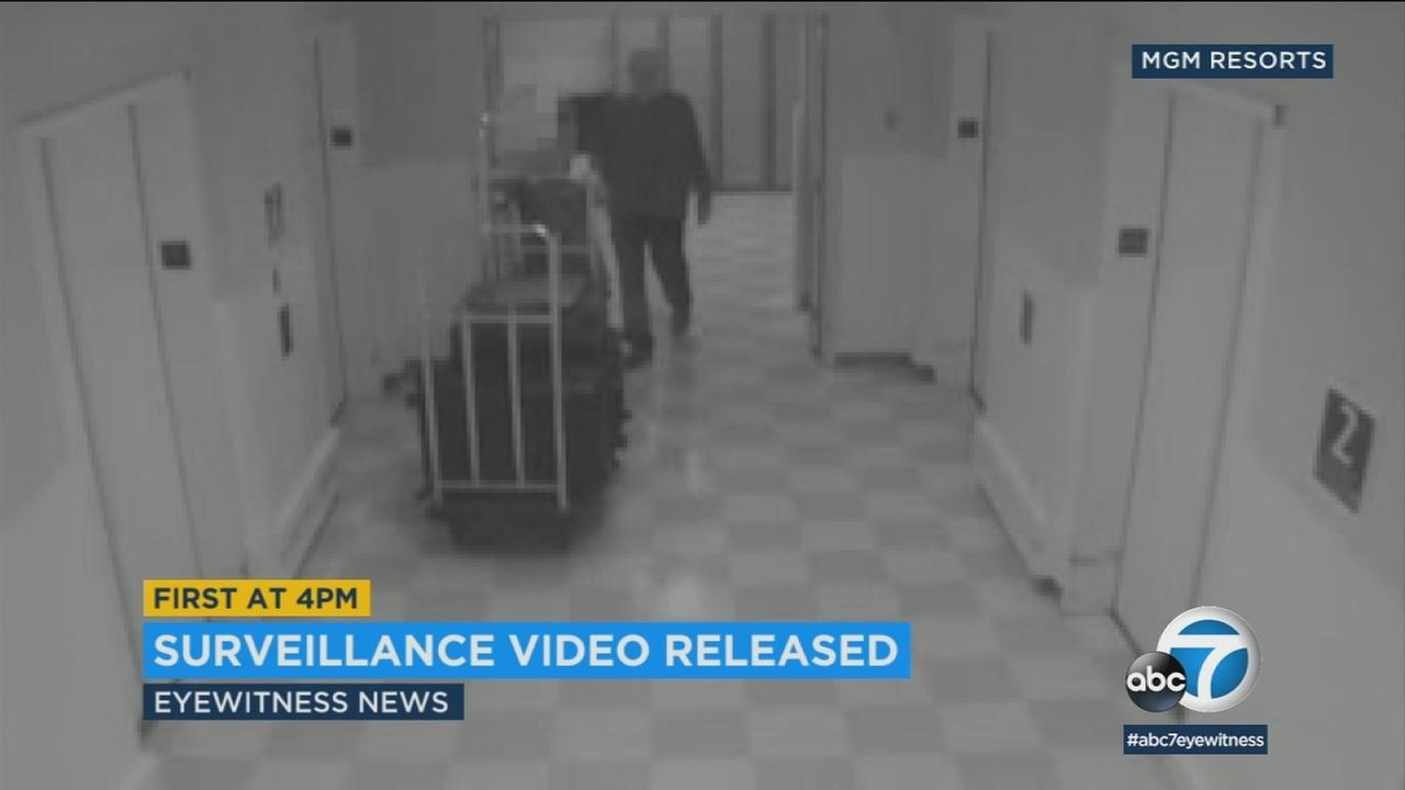 In a rare move, MGM Resorts has released surveillance video from Mandalay Bay Resort and Casino of Las Vegas gunman Stephen Paddock.