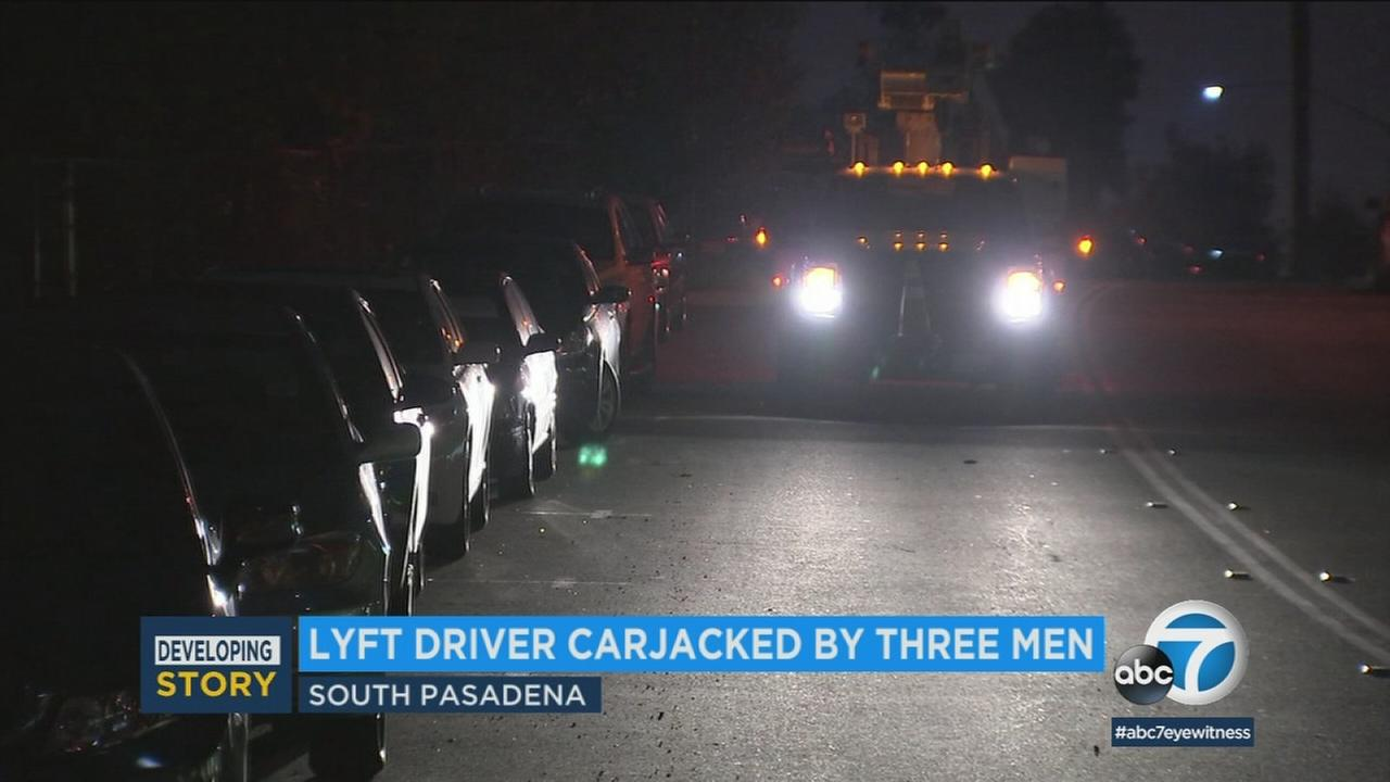 A row of cars is seen in South Pasadena in this file photo.