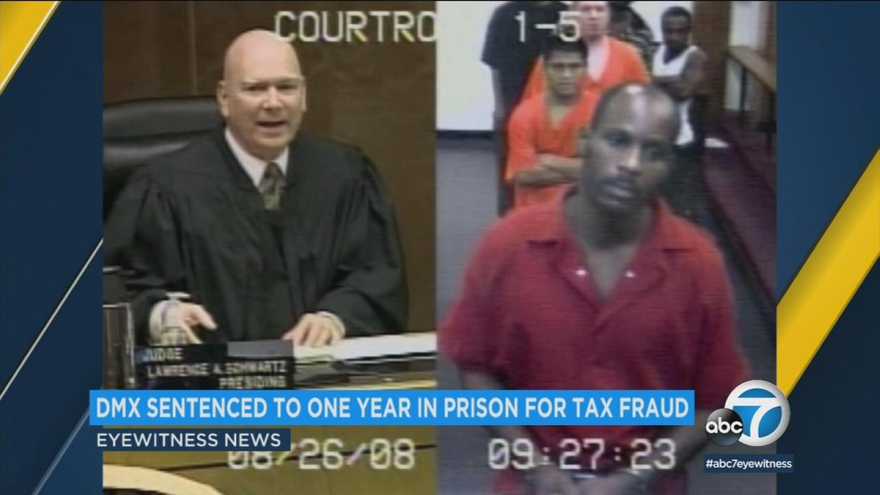 Rapper DMX was allowed to listen to his own song in court Wednesday, before a judge sentenced him to a year in prison for tax fraud.