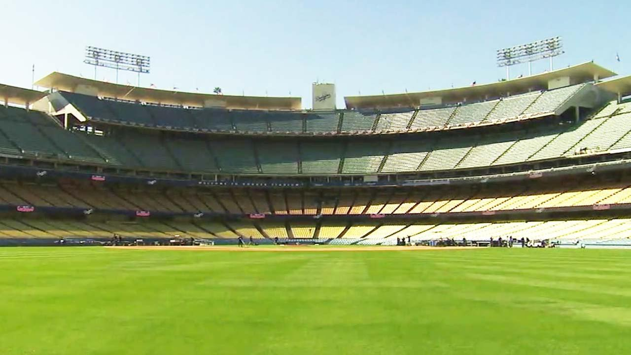 Dodger Stadium on Opening Day, March 29, 2018.