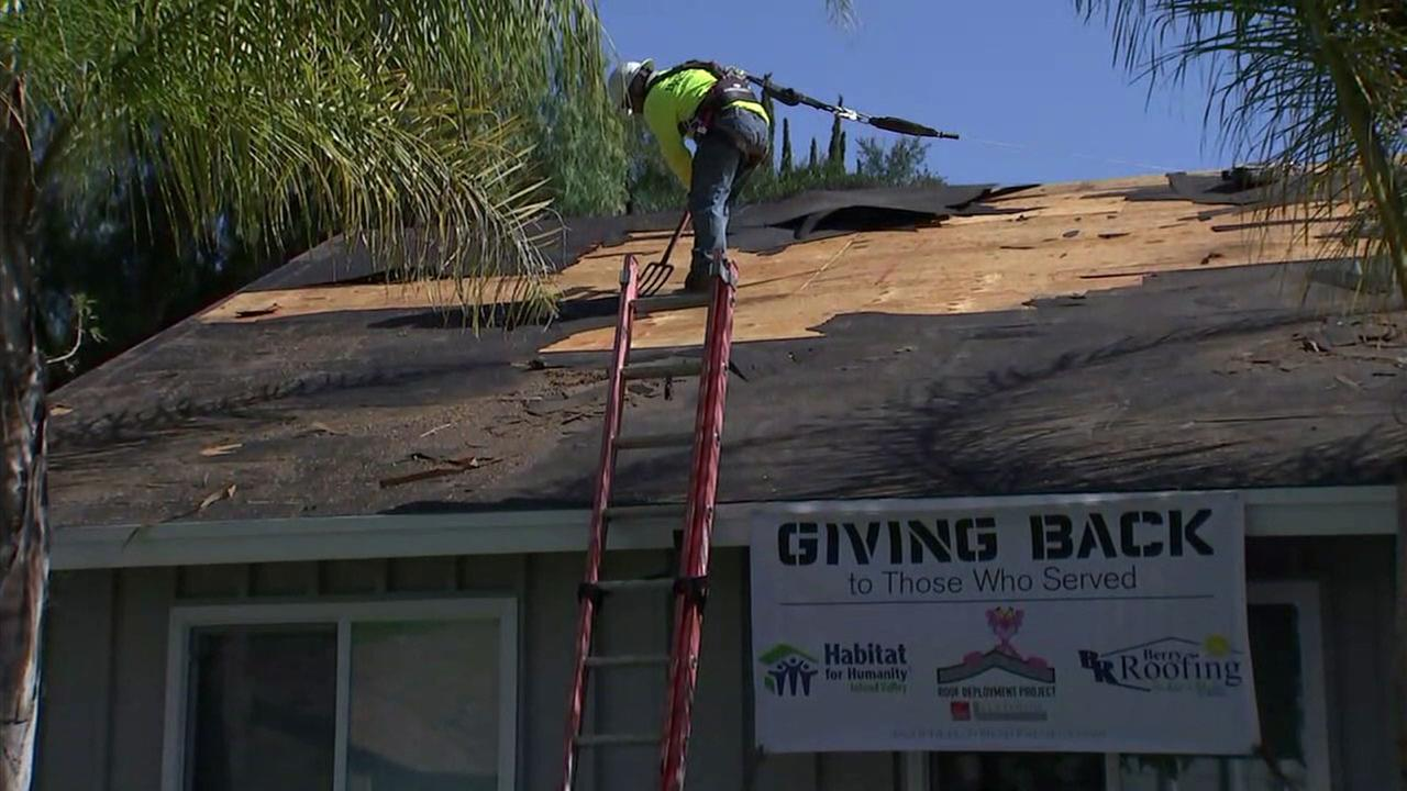 The Roof Deployment Project is keeping one local veteran warm and dry.