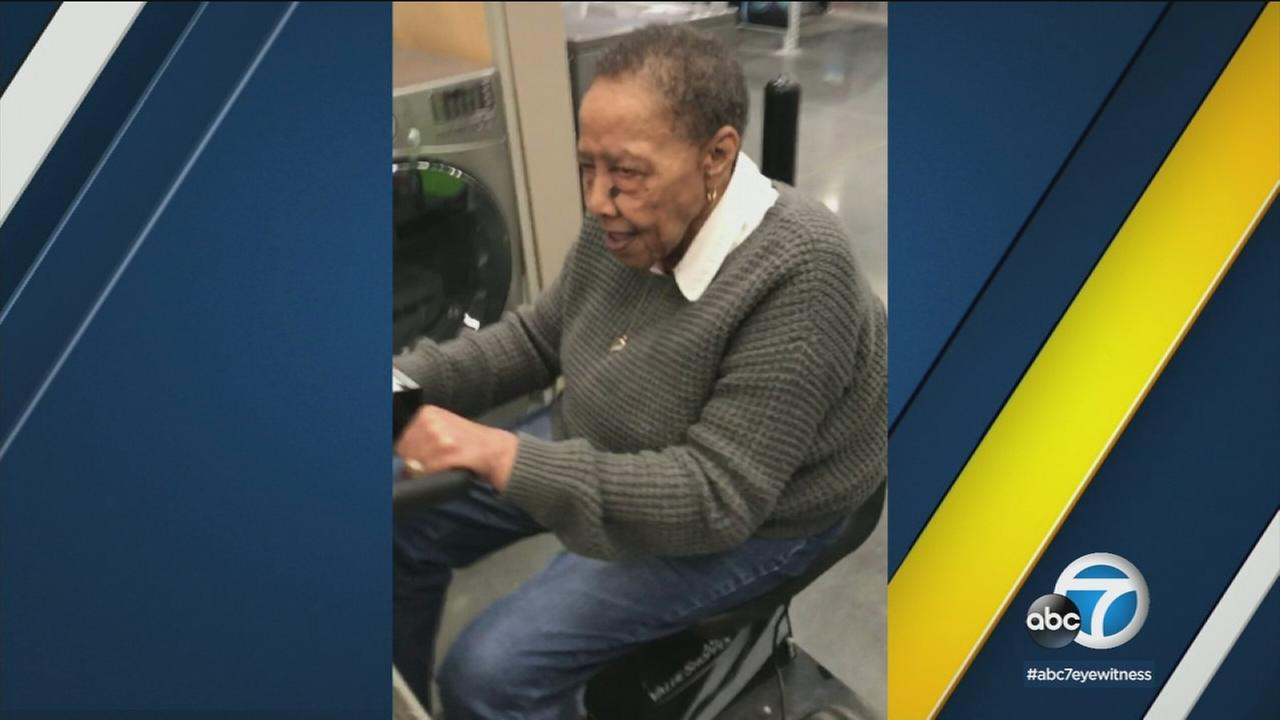 Freddie Brandon, 78, is shown in a photo taken just three days before she was murdered in her South Los Angeles home.