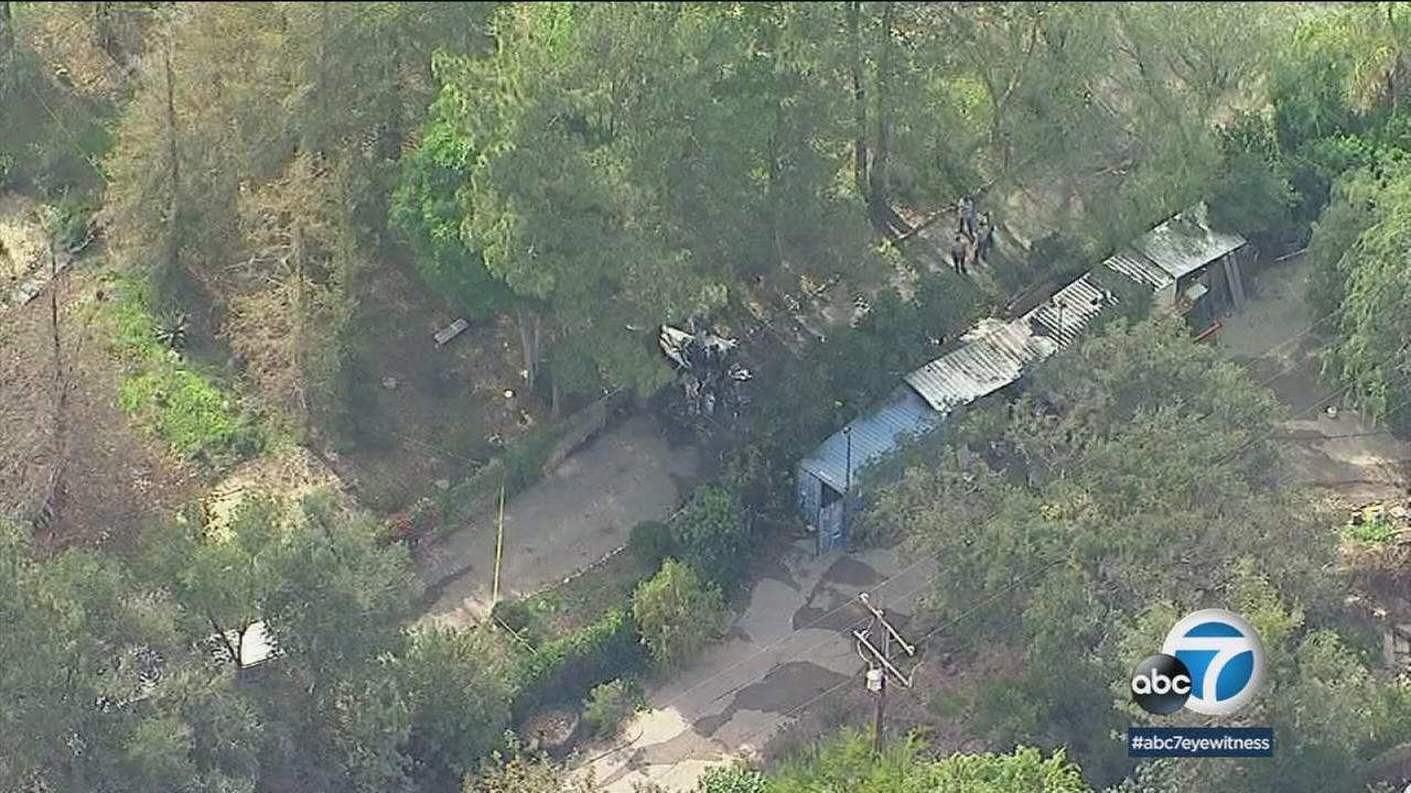 The scene of a deadly plane crash in Santa Paula on Saturday, March 31, 2018.