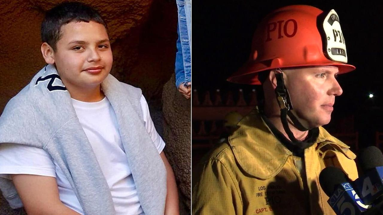 Its with happy hearts that all Los Angeles city agencies are able to state that we have found Jesse Hernandez, LAFD Capt. Erik Scott said of a missing 13-year-old boy.