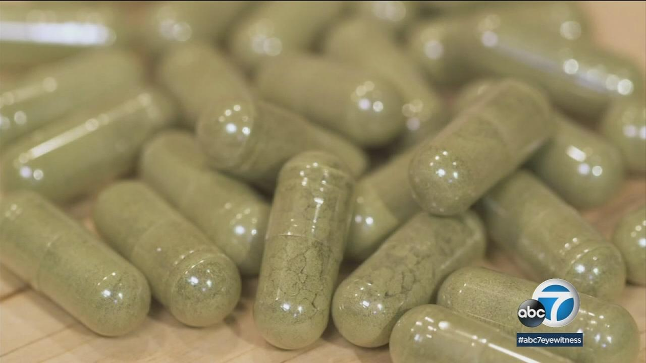 Kratom pills are shown in a file photo.