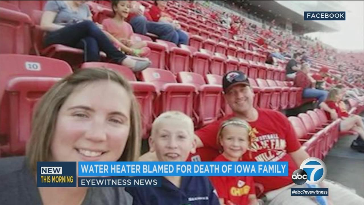 A rusted water heater is now being blamed for the death of an Iowa family in Mexico.