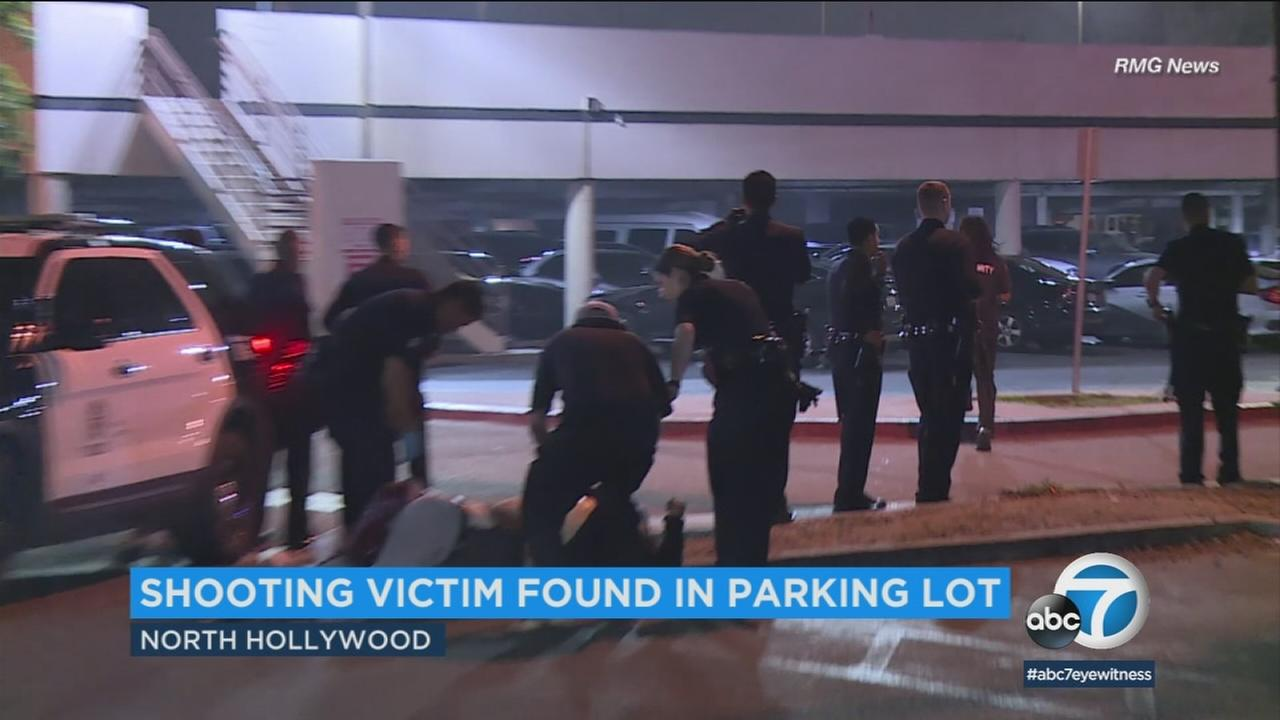 Police are investigating a shooting that left a man wounded outside a theater in North Hollywood.