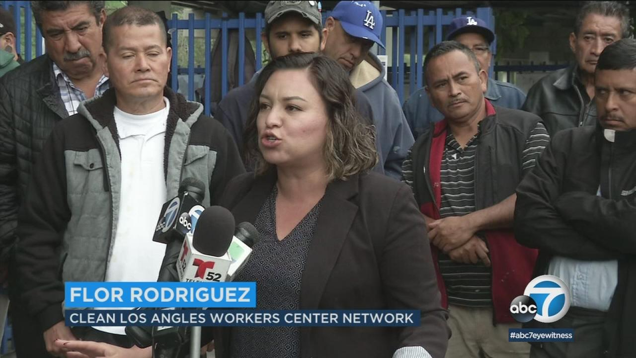 Day laborers are speaking out against a security company operating in several The Home Depot parking lots in Los Angeles.