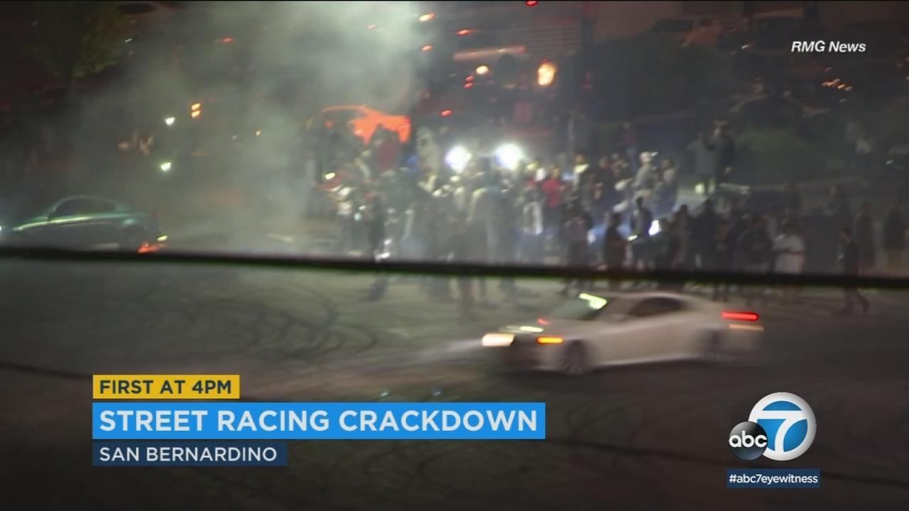 The CHP and Riverside police conducted a joint operation to crack down on illegal street races and side shows.