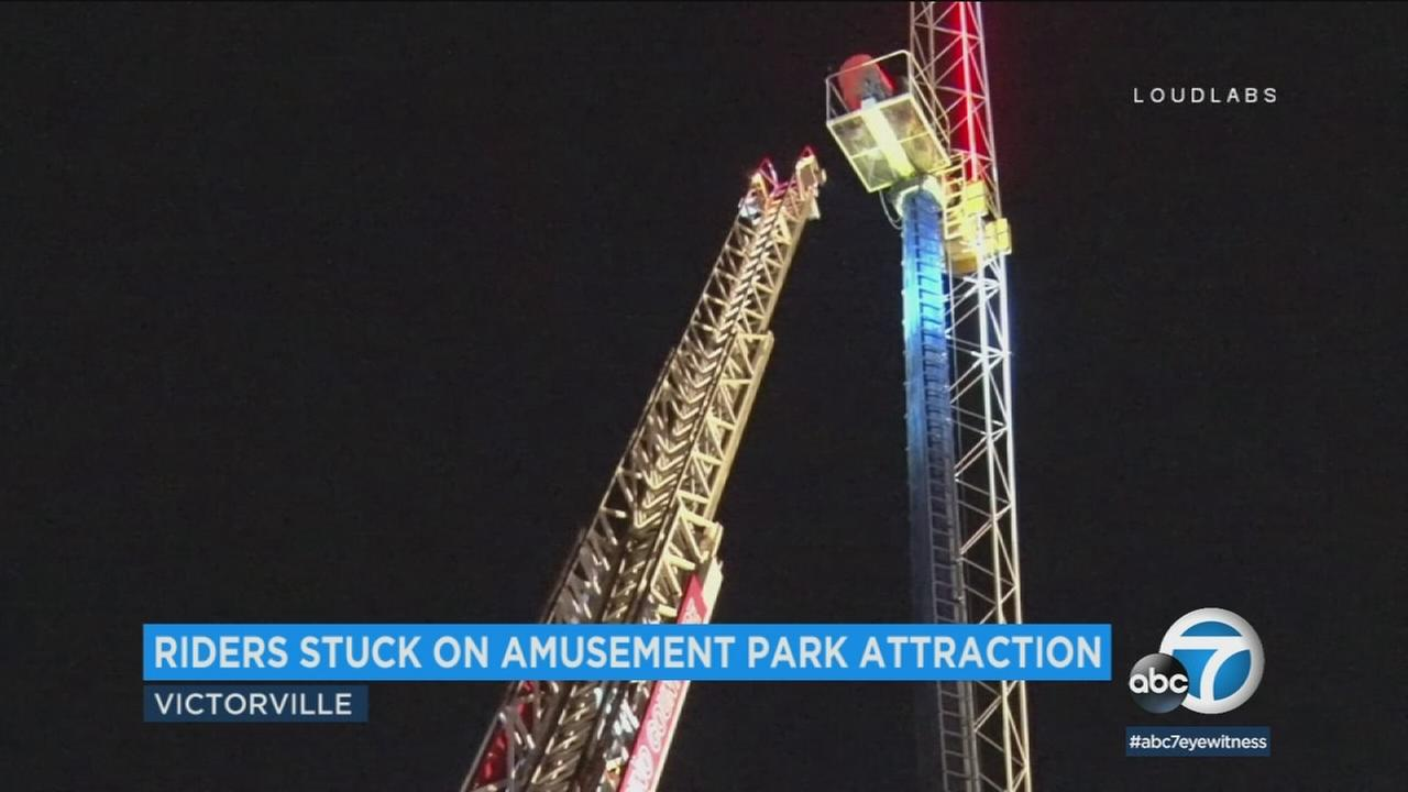 Two people got the scare of a lifetime on a roller coaster called the Sky Screamer, but it wasnt for the right reason.