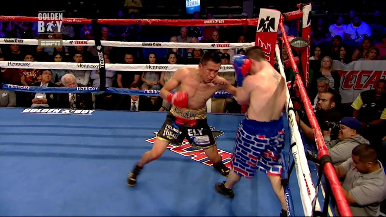 A SoCal boxing match went viral after an American boxer wearing shorts with a border wall depicted on them got knocked out by his Mexican opponent on Thursday, April 12, 2018.