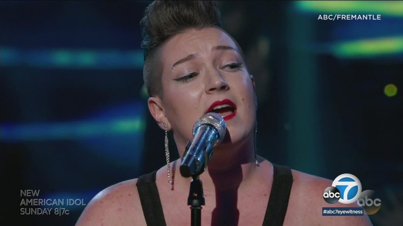 American Idol contestant Effie Passero performing on the hit ABC show.