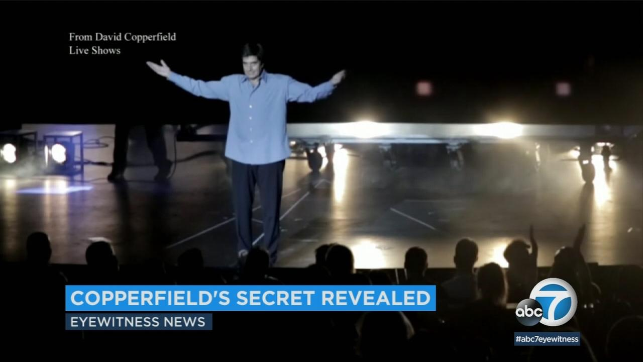 Magician David Copperfield is shown in a photo from one of his Las Vegas shows.