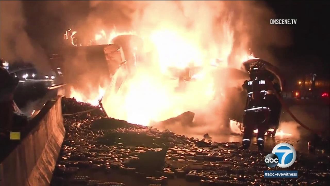 Fullerton freeway crash