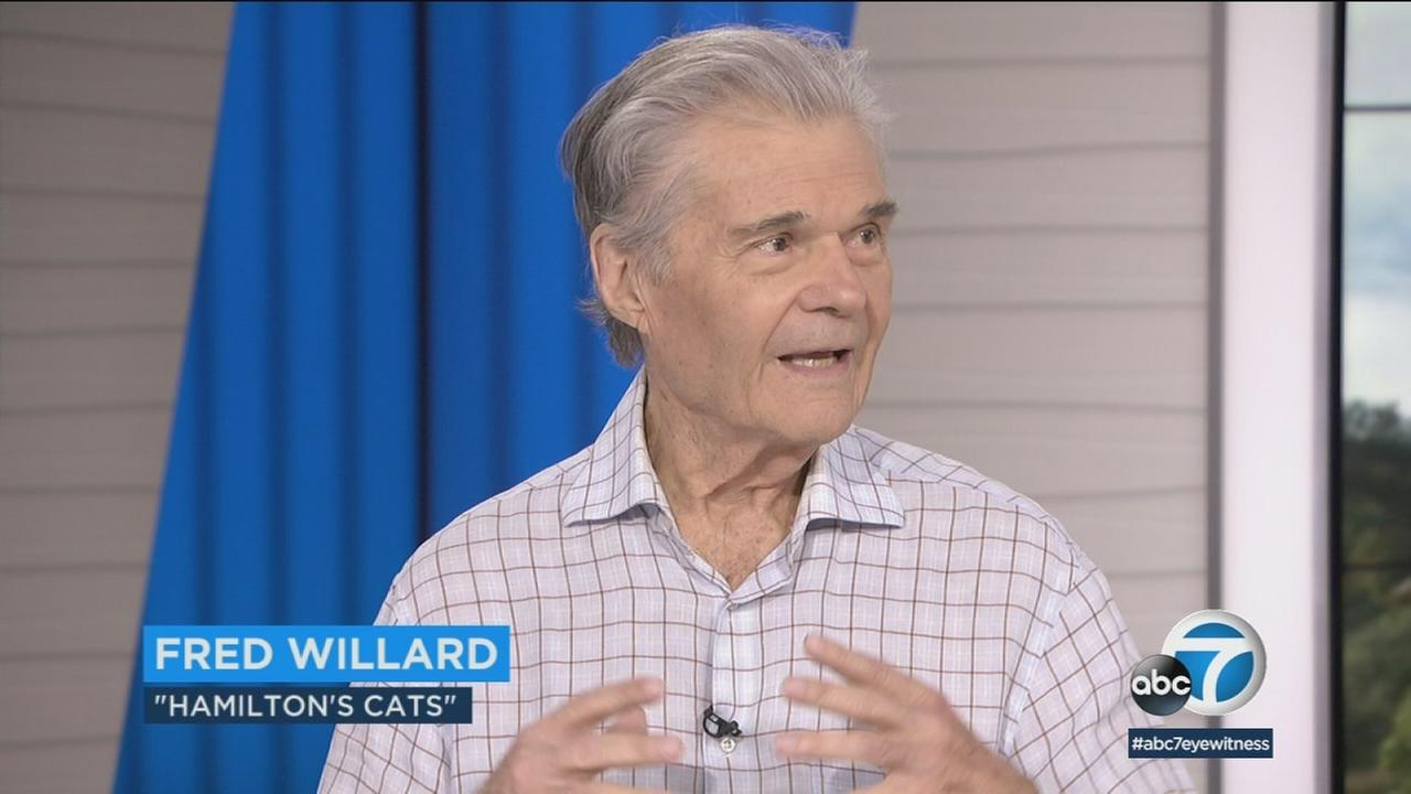 Actor Fred Willard is shown during an interview in the Eyewitness News studios about CATstravaganza.