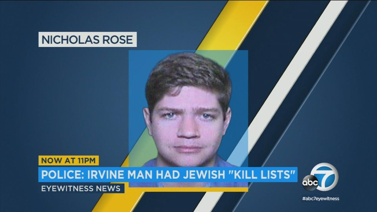 Nicholas Rose of Irvine pleaded not guilty to making criminal threats and violating civil rights, with sentencing enhancements for hate crimes.
