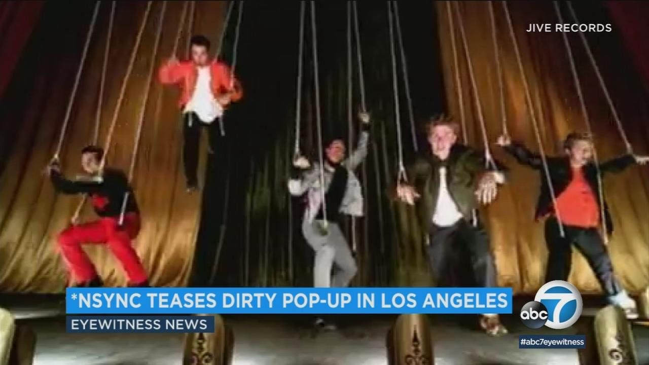 NSYNC fans can buy official merchandise from the group at their upcoming pop-up shop in Hollywood.