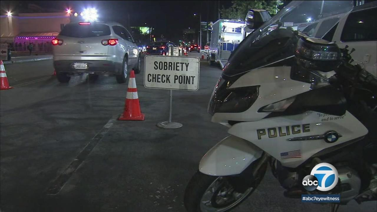 A sobriety checkpoint was set up in Hollywood to check for drivers who may have been drunk or high on 4/20.
