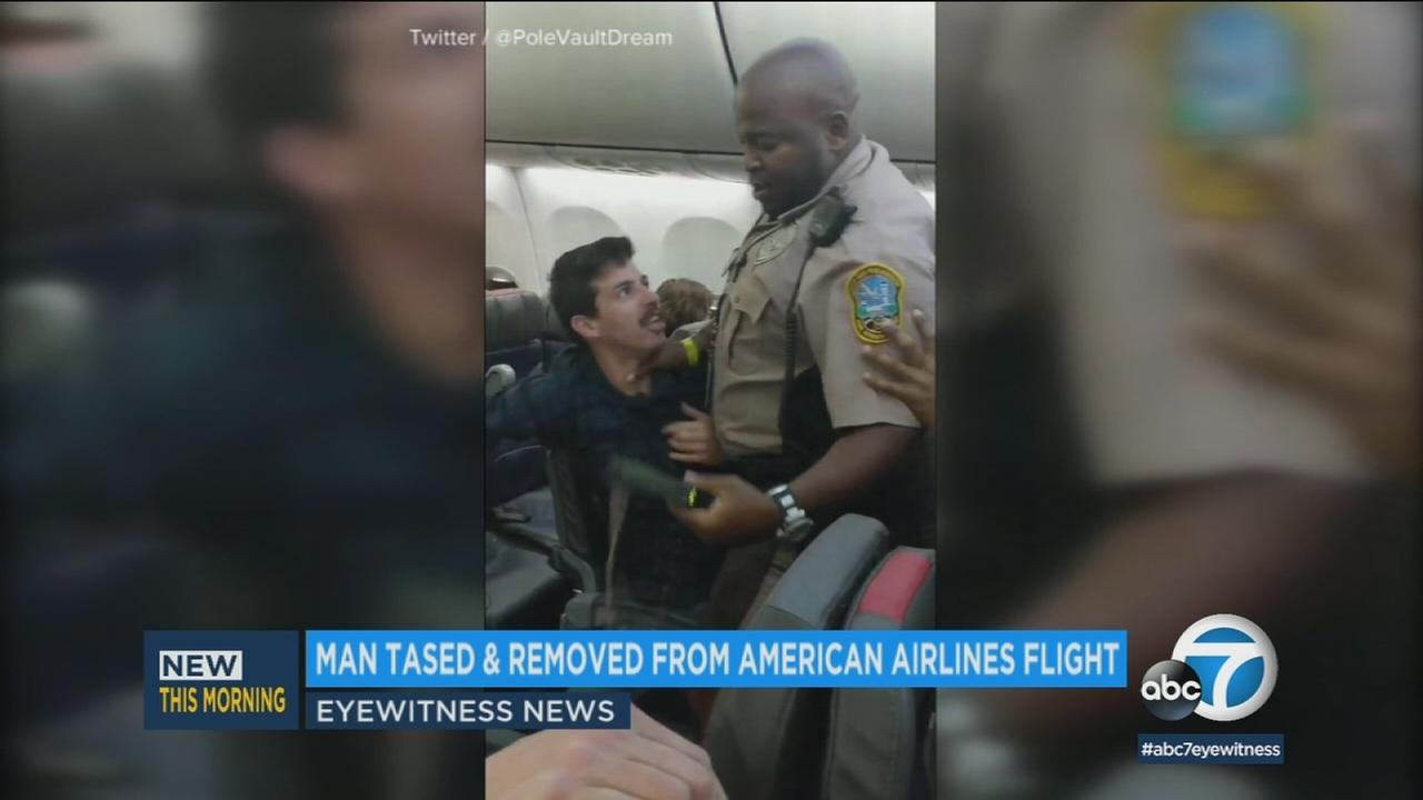 An American Airlines flight to Chicago was delayed after an uncooperative passenger was removed from the plane.