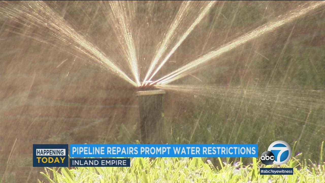 Nearly one million people in the Inland Empire are being asked to severely cut down on their water usage due to a pipeline repair.