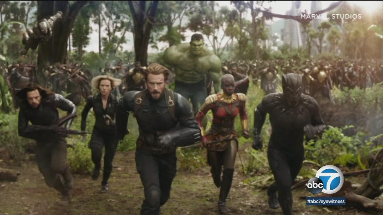 A scene from Avengers: Infinity War is shown in a photo.