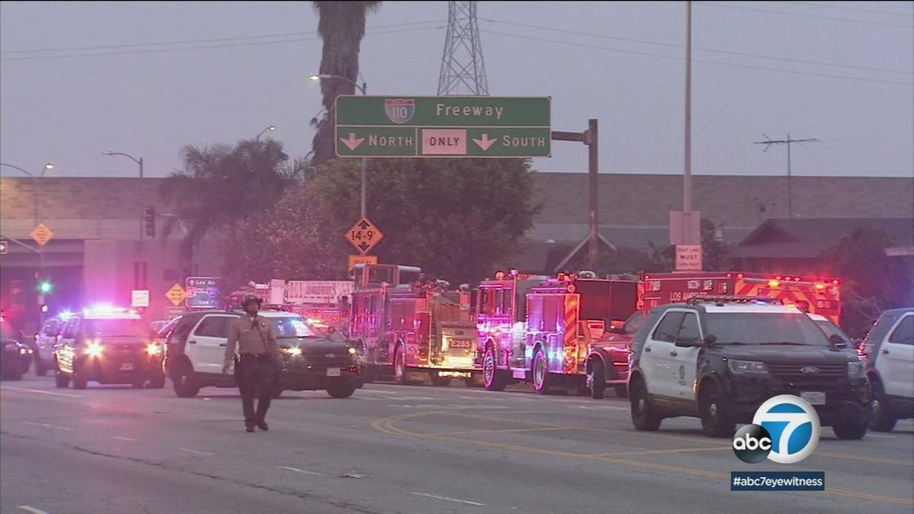 Harbor Gateway gunman in custody after killing mother, wounding self