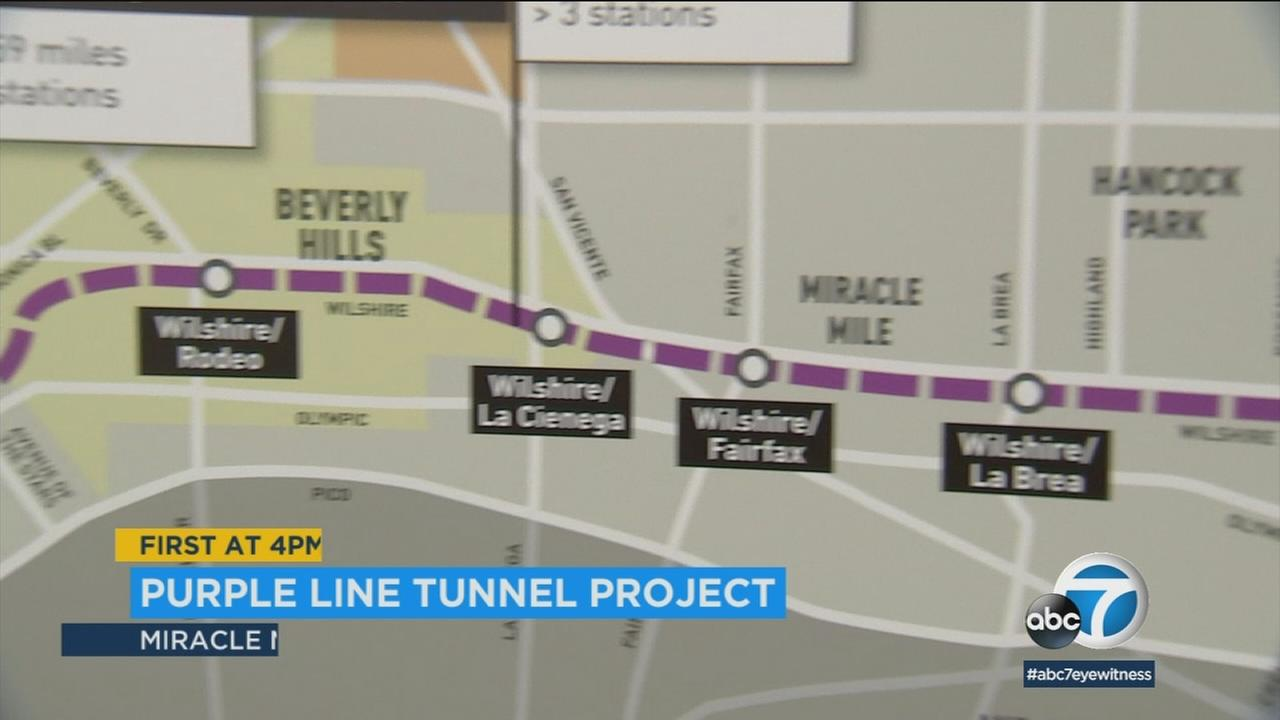 Tunneling for the first phase of Metros Purple Line Extension project will begin later this summer under the Miracle Mile.