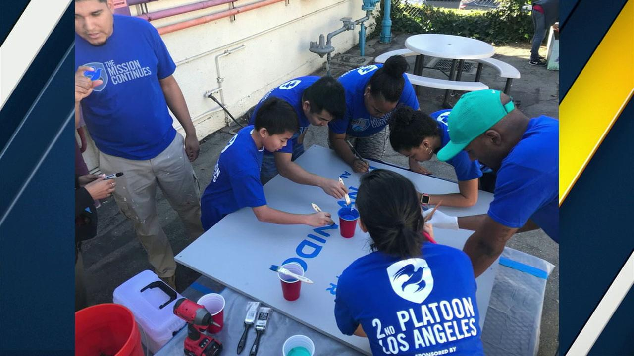 A veterans nonprofit called The Mission Continues is helping beautify Southern California schools.