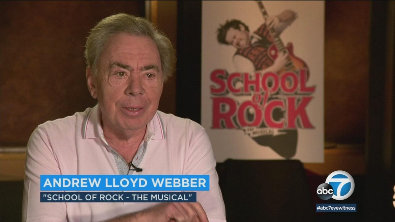 Composer Andrew Lloyd Webber discusses the role of music in his Tony-nominated School or Rock.