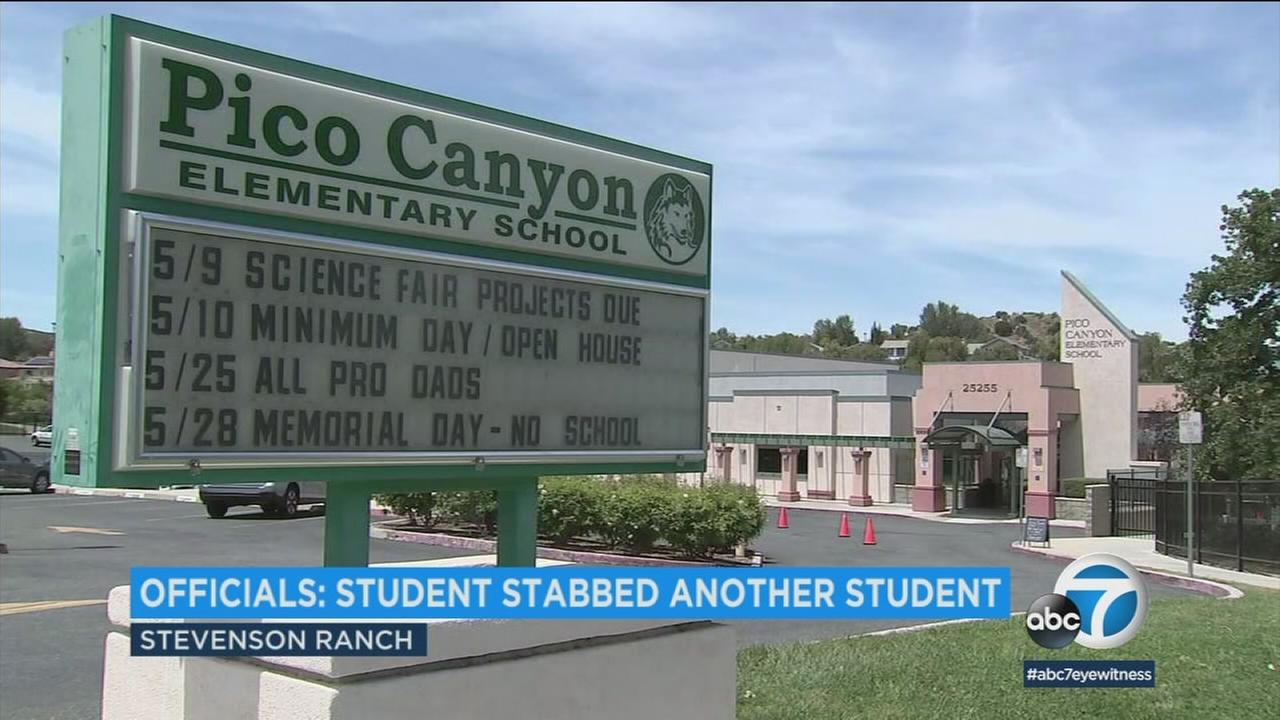A school where a 12-year-old student was accused of stabbing another during an alleged fight on Friday, May 4, 2018.