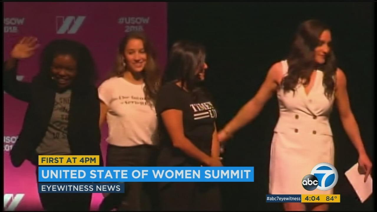 More than 5,000 people are gathered in Los Angeles this weekend for a womens issues summit that features Michelle Obama.
