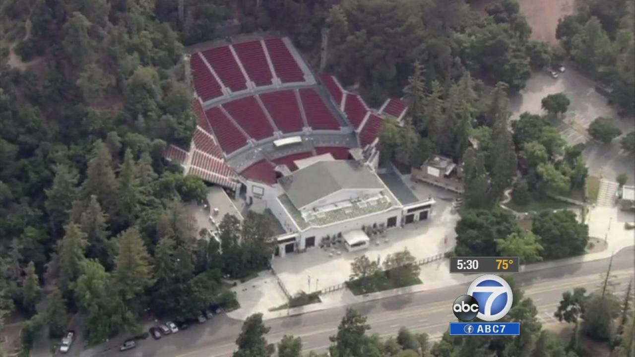 An aerial view of the Greek Theatre is shown in this undated file photo.