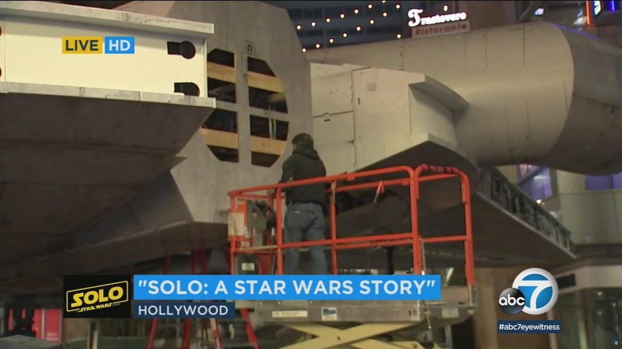 Star Wars fans have been camped out for days on Hollywood Boulevard for the premiere of Solo: A Star Wars Story.