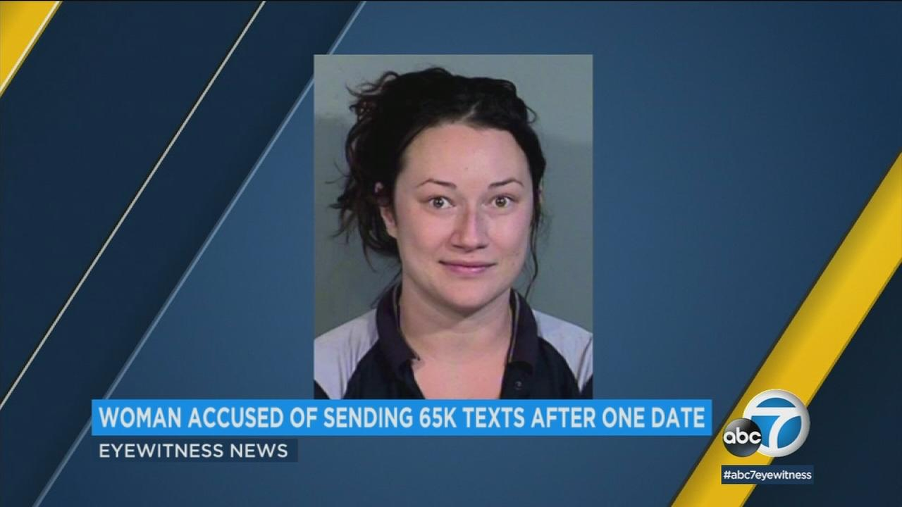 I felt like I met my soulmate, said a woman from jail, who is accused of stalking and sending a man 65,000 text messages.