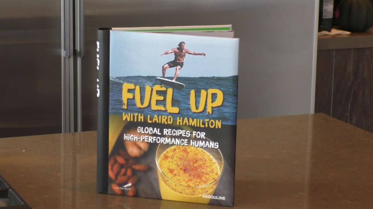 Surf star Lair Hamilton offers recipes of global cuisine that get people excited to eat whole foods, healthy carbs and good fats in his Fuel Up cookbook.